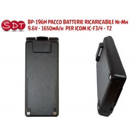 BP-196H PACCO BATTERIE RICARICABILE Ni-Mh 9.6V - 1650mA/h PER ICOM IC-F3/4 - T2