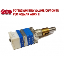 POTENZIOMETRO VOLUME/CH/POWER PER POLMAR WORK III
