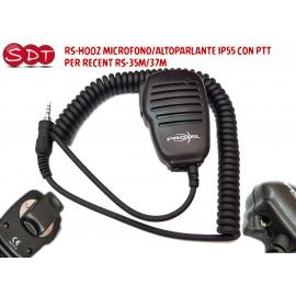 RS-H002 MICROFONO/ALTOPARLANTE IP55 CON PTT PER RECENT RS-35M