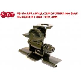MB-470 SUPPORTO A BAULE/COFANO/PORTIERA INOX BLACK REGOLABILE