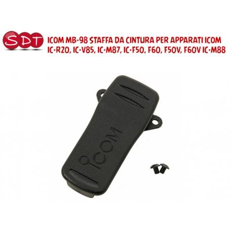ICOM MB-98 STAFFA DA CINTURA PER APPARATI ICOM IC-R20, IC-V85, IC-M87, IC-F50, F60, F50V, F60V IC-M88