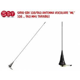 "SIRIO SBK 108/960 ANTENNA VEICOLARE ""ML"" 108 … 960 MHz TARABILE"