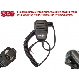 EM-3600Y MICROFONO ALTOPARLANTE CON PTT E CONNETTORE A L PER YAESU VX-3/2/1 FT-60