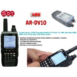 AOR AR-DV10 RICEVITORE-SCANNER PORTATILE ANALOGICO/DIGITALE DA 100KHz a 1300MHz AM, FM, NFM, WFM o FMB e DIGITALI