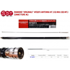 "DIAMOND ""ORIGINALE"" HF80FX ANTENNA HF 3.50 MHz (80 MT.) - CONNETTORE MJ"