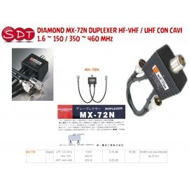DIAMOND MX-72N DUPLEXER HF-VHF / UHF CON CAVI 1.6 ~ 150 / 350 ~ 460 MHz