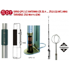 SIRIO GPS 1/2 ANTENNA CB 26.4 ... 29.0 (10 MT.) MHz TARABILE