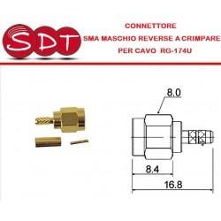 CONNETTORE SMA MASCHIO...