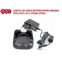 ICOM BC-202 CARICA BATTERIA RAPIDO ORIGINALE PER IC-ID-51, ID-31, IP100H, IP501H