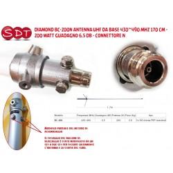 DIAMOND BC-200N ANTENNA UHF DA BASE 430~490 MHZ 170 CM - 200 WATT GUADAGNO 6,5 DB