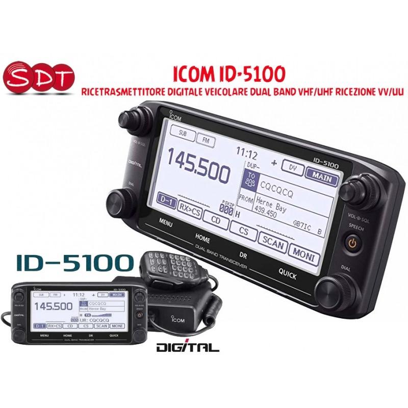 ICOM ID-5100  RICETRASMETTITORE DIGITALE VEICOLARE DUAL BAND VHF/UHF RICEZIONE VV/UU