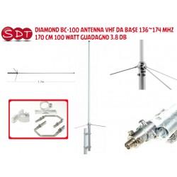 DIAMOND BC-100 ANTENNA VHF DA BASE 136~174 MHZ 170 CM 100 WATT GUADAGNO 3,8 DB