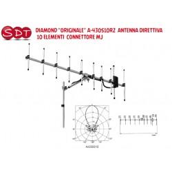 """DIAMOND """"ORIGINALE"""" A-430S10R2  ANTENNA DIRETTIVA 10 ELEMENTI  CONNETTORE MJ"""