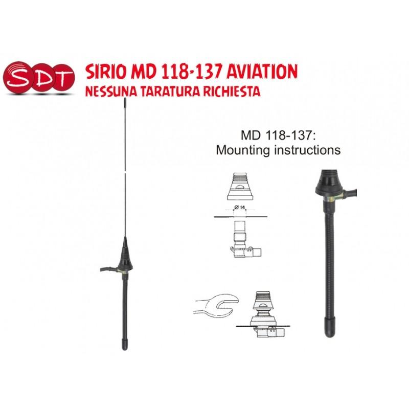 SIRIO MD 118-137 AVIATION NESSUNA TARATURA RICHIESTA