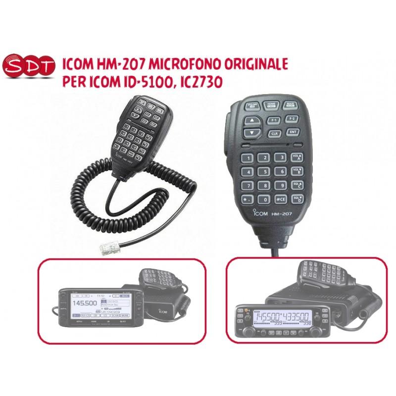 ICOM HM-207 MICROFONO ORIGINALE PER ICOM ID-5100, IC2730