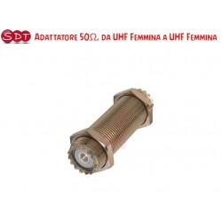ADATTATORE - CONGIUNZIONE 50Ω DOPPIA FEMMINA UHF - SO239/SO239