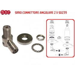 SIRIO CONNETTORE ANGOLARE 2 X SO239
