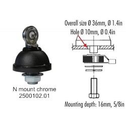 SIRIO ANTENNA VEICOLARE ML 145 N INOX MAG PM125 - 27 ... 28.5 MHz Tarabile