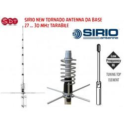 SIRIO NEW TORNADO ANTENNA DA BASE 27 ... 30 MHz TARABILE