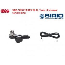 SIRIO CAVO PER BASE NE-PL, Turbo e Performer  4m/13ft RG58