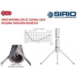 "SIRIO ""ORIGINALE"" ANTENNA GPA 87-108 Mhz LB/UHF NESSUNA TARATURA RICHIESTA"