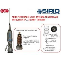 SIRIO PERFORMER-5000 ANTENNA CB VEICOLARE, FREQUENZA 27 … 30 MHz  TARABILE