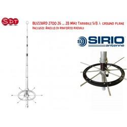 SIRIO BLIZZARD 2700 ANTENNA 26 ... 28 MHz TARABILE 5/8 λ GROUND PLANE