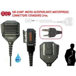 SM-01WP  MICRO-ALTOPARLANTE WATERPROOF IP67, CONNETTORE STANDARD 2pin.
