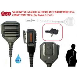 SM-04WP/VX351 MICRO-ALTOPARLANTE WATERPROOF IP67, CONNETTORE YAESU Pin Singolo (2viti).