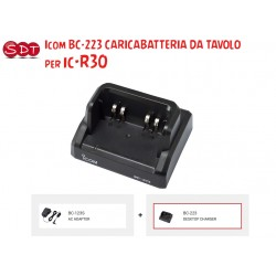 """ICOM BC-223 """"ORIGINALE"""" CARICABATTERIA DA TAVOLO X IC-R30"""