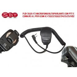 PJD-3605-F3 MICROFONO/ALTOPARLANTE CON PTT E CONN.RE A L PER ICOM IC-F3022/3002/34/15/25/V82