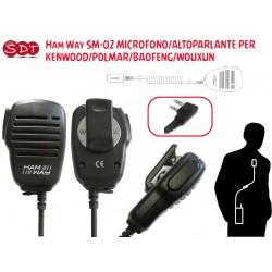 Ham Way SM-02 MICROFONO/ALTOPARLANTE PER KENWOOD/POLMAR/BAOFENG/WOUXUN