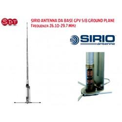 SIRIO ANTENNA DA BASE GPV 5/8 GROUND PLANE, Frequenza 26.10-29.7 MHz