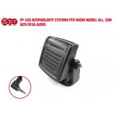 SP-100 ALTOPARLANTE ESTERNO PER RADIO MOBILI, 8Ω, 20W, ALTA RESA AUDIO
