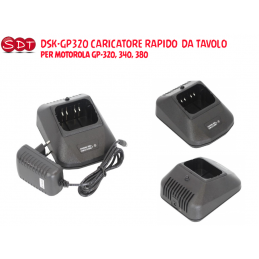 DSK-GP320 CARICATORE RAPIDO  DA TAVOLO  PER MOTOROLA GP-320, 340, 380