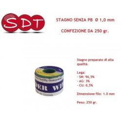 STAGNO SENZA PB  Ø 1,0 mm - CONFEZIONE DA 250 gr.