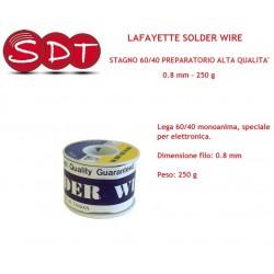 LAFAYETTE SOLDER WIRE STAGNO 60/40 PREPARATORIO ALTA QUALITA'  0.8 mm - 250 g