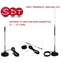 "SIRIO ""ORIGINALE"" MINI MAG 27A ANTENNA 27 MHZ CON BASE MAGNETICA   27 ... 27.5 MHz"