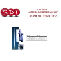 CVX-470/3 ANTENNA OMNIDIREZIONALE UHF DA BASE 460~480 MHZ 158 CM