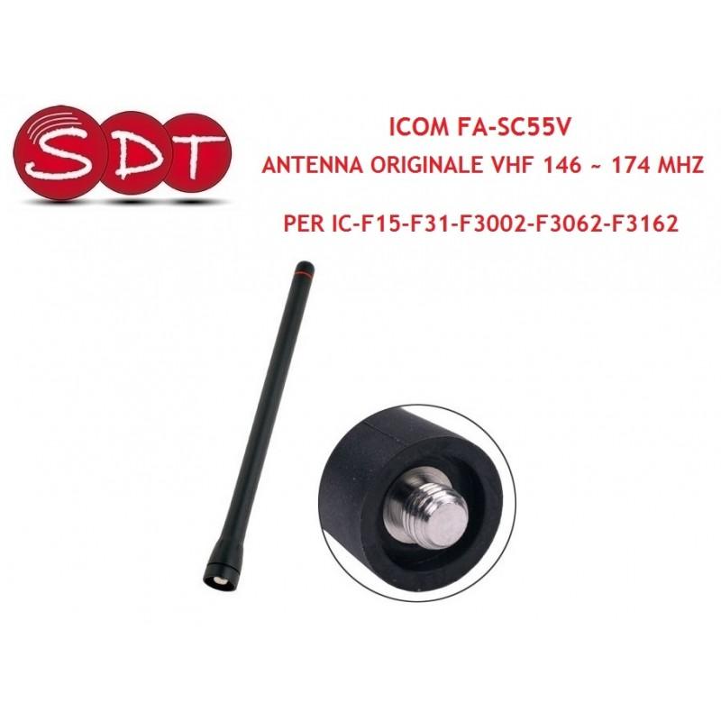 ICOM FA-SC55V ANTENNA ORIGINALE VHF 146 ~ 174 MHZ PER IC-F15-F31-F3002-F3062-F3162