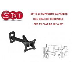 """SP-10-23 SUPPORTO DA PARETE CON BRACCIO SNODABILE PER TV FLAT DA 10"""" A 23"""""""