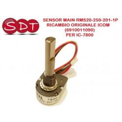 SENSOR MAIN RMS20-250-201-1P RICAMBIO ORIGINALE ICOM (6910011090) PER IC-7800