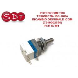 POTENZIOMETRO TP96N937N-15F-10KA  RICAMBIO ORIGINALE ICOM (7210002530)  PER IC-M1