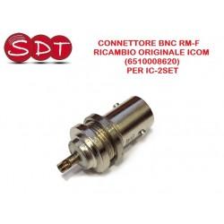 CONNETTORE BNC RM-F  RICAMBIO ORIGINALE ICOM (6510008620)  PER IC-2SET