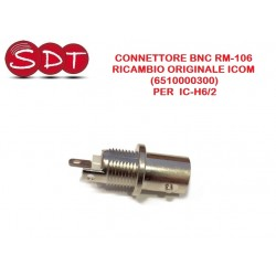 CONNETTORE BNC RM-106 RICAMBIO ORIGINALE ICOM (6510000300)  PER  IC-H6/2