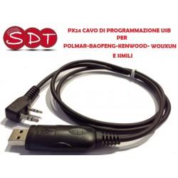 PX24 USB DI PROGRAMMAZIONE PER POLMAR/BAOFENG/KENWOOD/WOUXUN E SIMILI