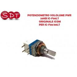 POTENZIOMETRO VOLOLUME PWR. 20KB IC-F30LT ORIGINALE ICOM PER IC-F30/30LT