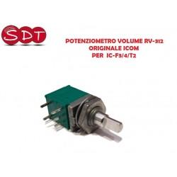 POTENZIOMETRO VOLUME RV-312 ORIGINALE ICOM PER  IC-F3/4/T2
