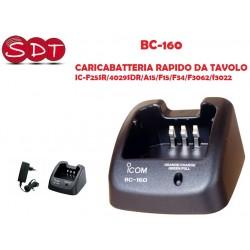 BC-160 CARICABATTERIA RAPIDO DA TAVOLO IC-F25SR/4029SDR/A15/F15/F34/F3062/f3022