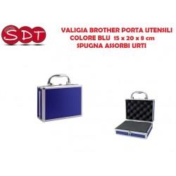 BROTHER LAFAYETTE VALIGIA COLORE BLU PORTA UTENSILI 15 x 20 x 8 cm - SPUGNA ASSORBI URTI